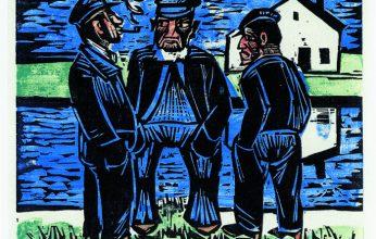 """Max-Pechstein-""""Kloenende-Fischer-Original-Farbholzschnitt-1923-40-x-495-cm-signiert-346x220.jpg"""